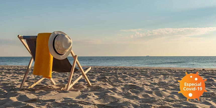 cadeira num praia
