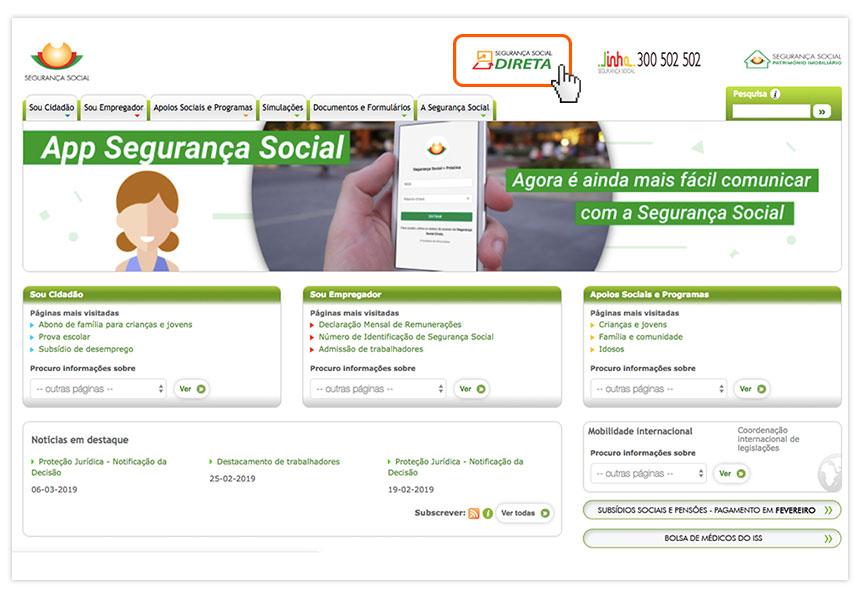 Consultar os descontos para a Segurança Social